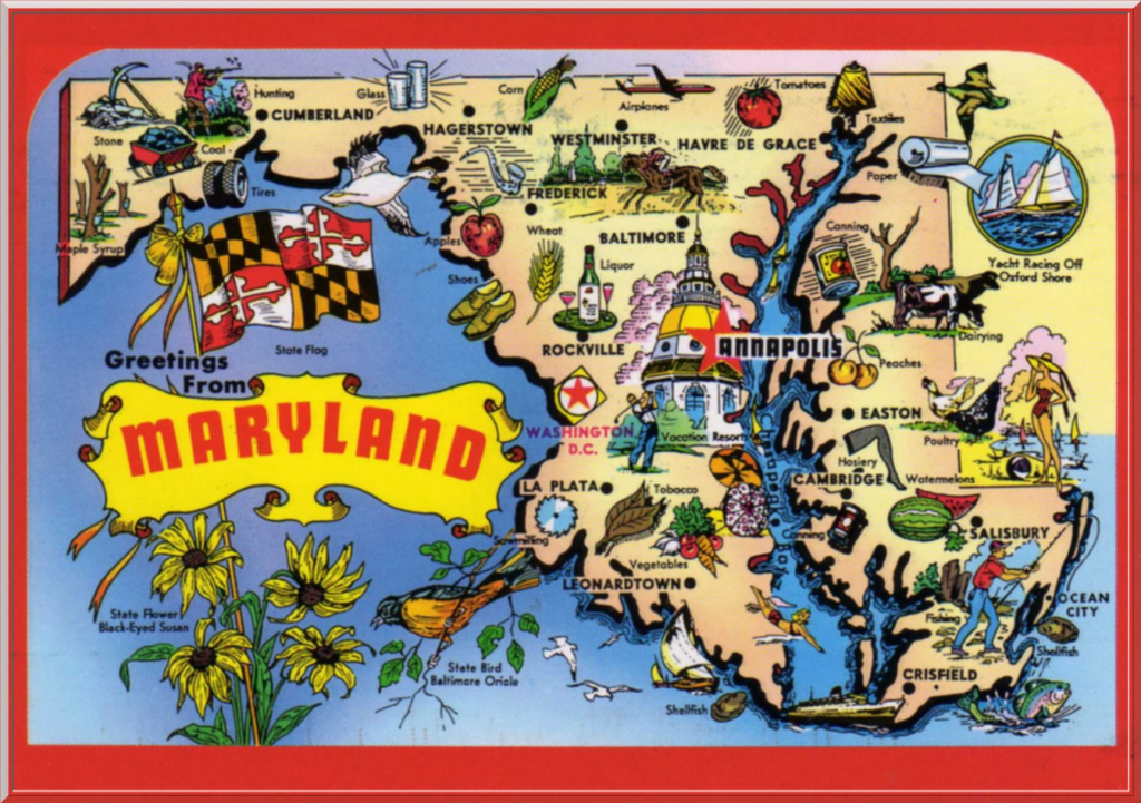 Maryland graphic map